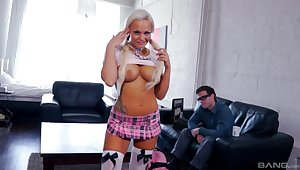 Blonde model Amylee gets will not hear of orgasmic pussy fucked balls gaping void