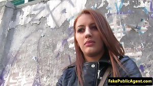 Tricked euro creampied away from imposter agent