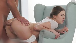 30-year-old Slav very much without being prompted to work on her fat ass