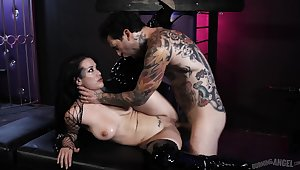 Tattooed whore in real bound innovative XXX