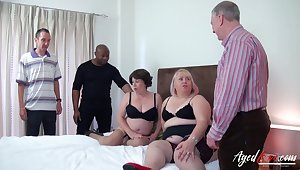 Two mature ladies got drilled definitely hardcore and they beloved it