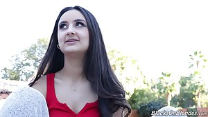 Charming teen model with dimples Eliza Ibarra gives an interview