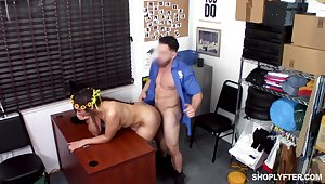Fucked in excess of the desk after zooid caught stealing