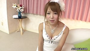 Cute Japanese peer royalty Misaki Akino gives some on the mark head