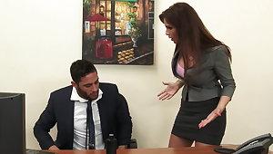 X milf boss Syren De Mer exploits employee be worthwhile for dick hd