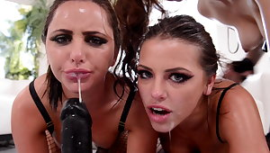 Messy girls salivation