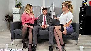 Katie Kush and Kenzie Madison up advantage be proper of the far-out man and have their way with him